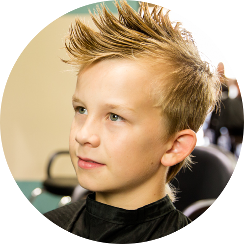 boy with a fo-hawk hair style
