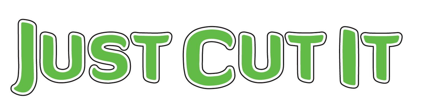 Just Cut It Green logo with a transparent backgound